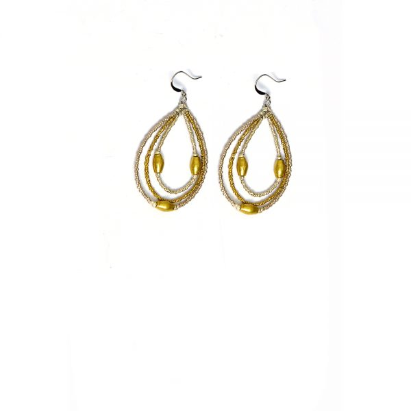 Stylish Ethiopian Recycled Bullet Casing Earring