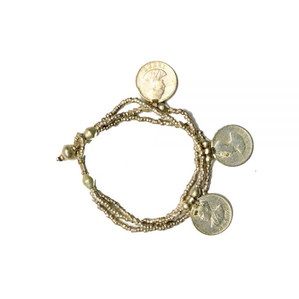Beautiful Ethiopian Bracelet with Emperor's Coin