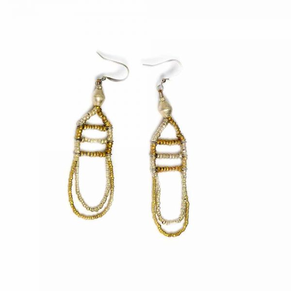 Stylish Ethiopian Earring Made from Recycled bullet casing