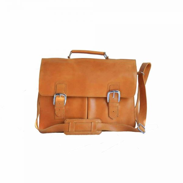 Classic Ethiopian Leather Laptop Bag